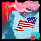 GO SMS Pro American Theme Free