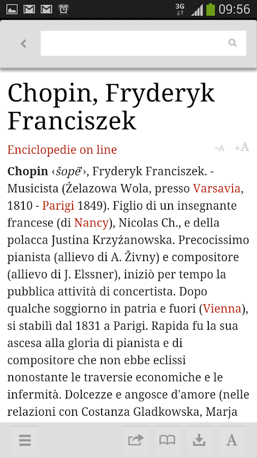 La Treccani- screenshot