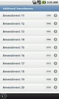 Screenshot of US Amendments