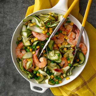 "Zucchini ""Pasta"" with Shrimp"