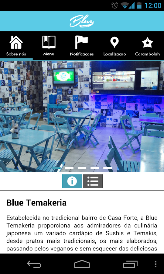Blue Temakeria- screenshot