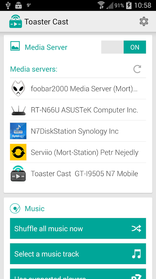 Toaster Cast DLNA UPnP Player- screenshot