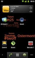 Screenshot of Tag Cloud Live Wallpaper