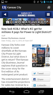 Kansas City Business Journal - screenshot thumbnail