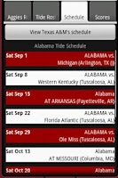 Screenshot of SEC Football Guide 2015