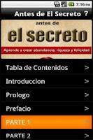 Screenshot of Antes de El Secreto