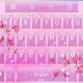 Theme TouchPal Glass Pink Flow