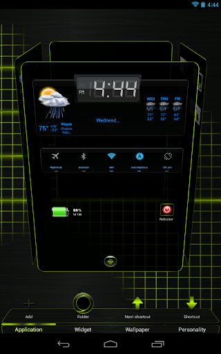 Next Launcher 3D Black Lime HD
