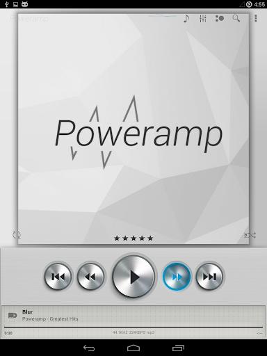 Skin for Poweramp Light Metall  screenshots 9