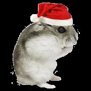 Christmas Hamster Sticker