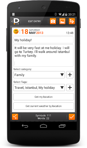 Private DIARY Pro - Personal journal app for Android screenshot