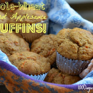 Whole-Wheat Carrot Applesauce Muffins.