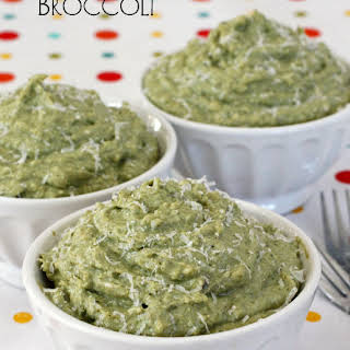 Mashed Broccoli with Ricotta, Parmesan and Garlic.