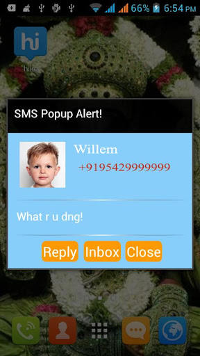 SMS Popup Alert Free
