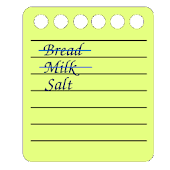 Don't forget. Shopping list.