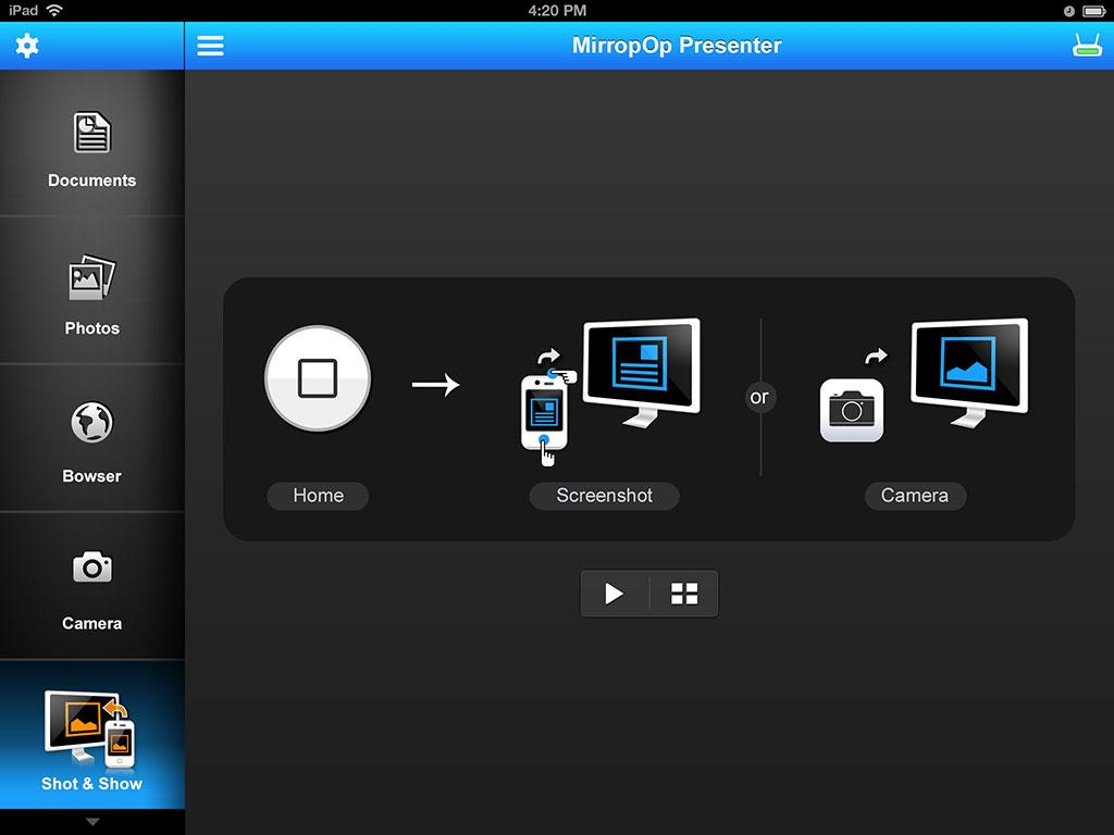 MirrorOp Presenter - screenshot