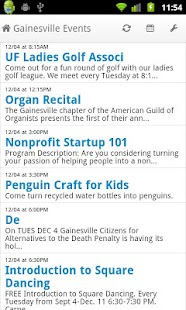 Gainesville Events - screenshot thumbnail