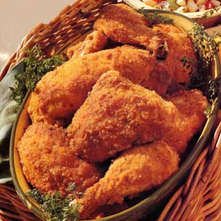 Spicy Oven-Fried Chicken.