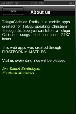 Telugu Christian Radio - screenshot