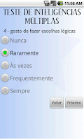 Screenshot of Teste Inteligências Múltiplas