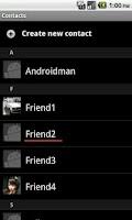 Screenshot of Kakao Contacts Album