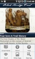 Screenshot of TourBoston'sBlackHeritageTrail