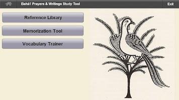 Screenshot of Bahai Study Tool