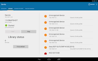 Screenshot of ServiiDroid