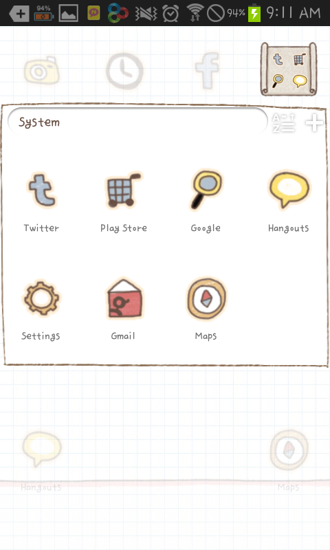 A picture diary go launcher - screenshot