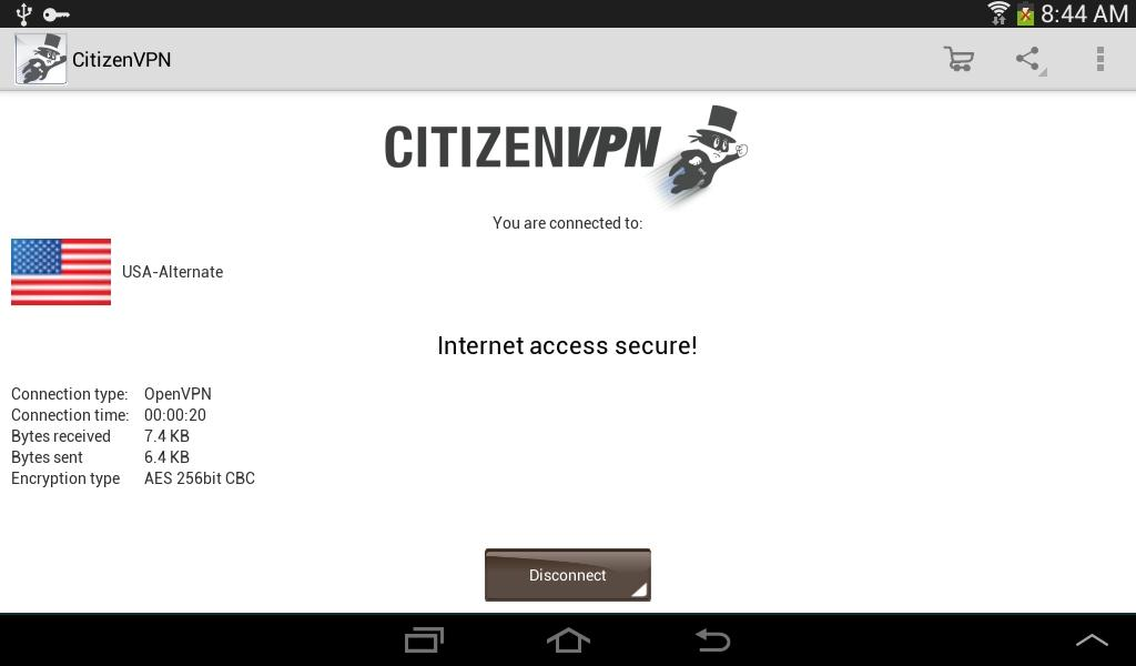 CitizenVPN- screenshot