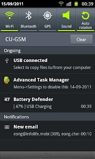 Battery Defender - 1 Tap Saver Screenshot