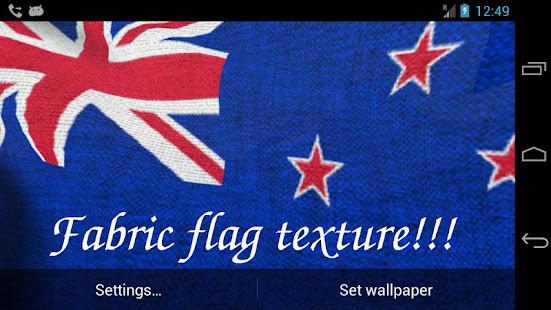 New Zealand Flag Wallpaper: 3D New Zealand Flag Live Wallpaper