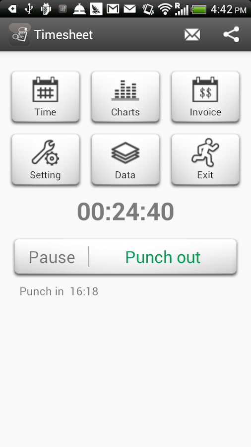 Timesheet - Work Time Tracker - screenshot