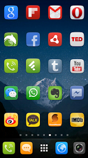 GO Launcher EX UI5.0 theme- screenshot thumbnail