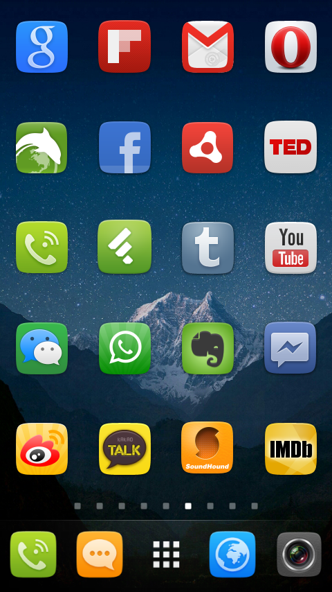 GO Launcher EX UI5.0 theme- screenshot