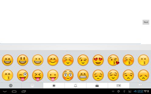Emoji Keyboard-Emoticons White