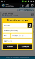 Screenshot of SMS Gratis Argentina