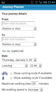 London Transport Planner - screenshot thumbnail