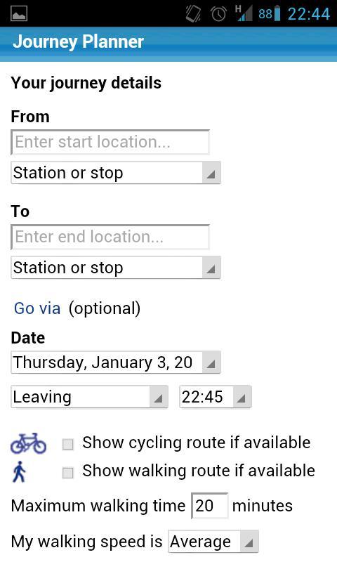 London Transport Planner - screenshot