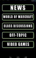 Screenshot of MMO-Champion Mobile