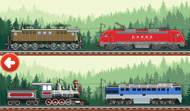 Animated Puzzles Train- screenshot