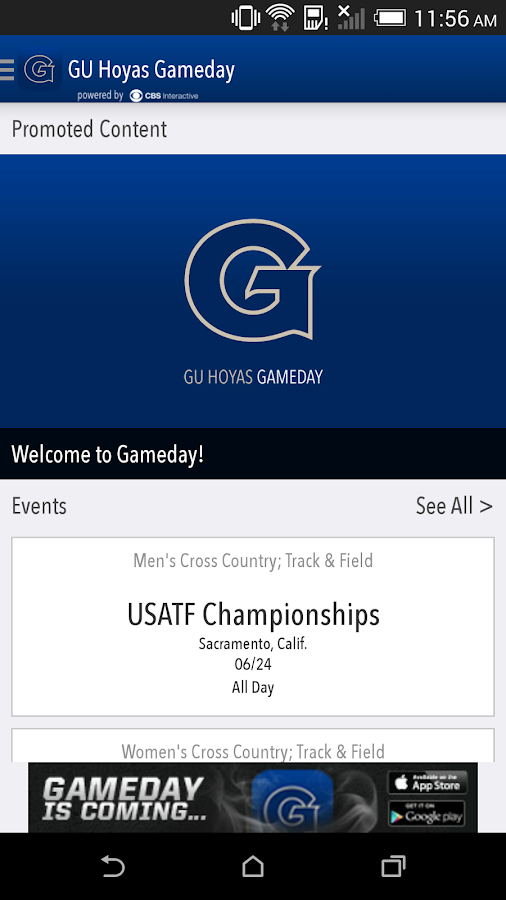 GU Hoyas Gameday LIVE - screenshot