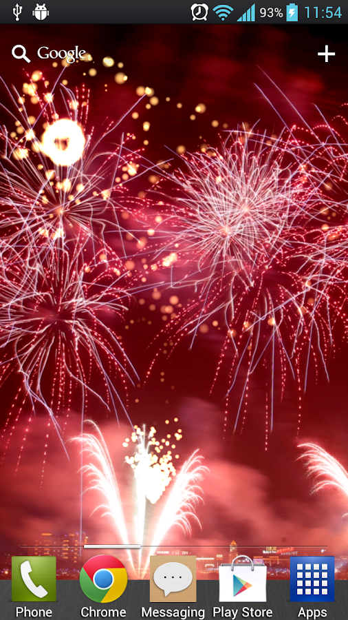 New Year Free Fireworks LWP - screenshot