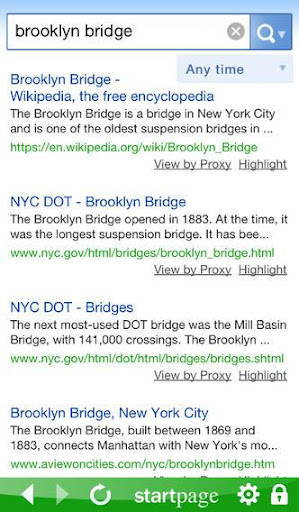 StartPage Private Search  screenshots 1