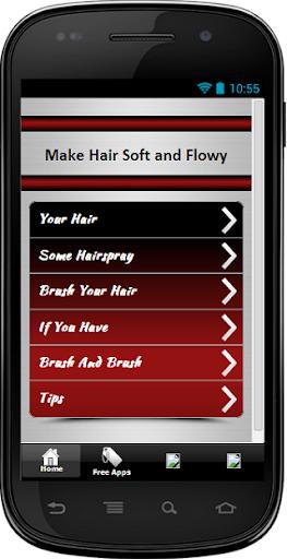 Flowy Hair After Straightening