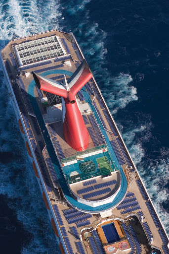 Carnival-Valor-aerial-exterior - There's a lounge chair waiting for you on Carnival Valor so you can lay back and soak up the sun whenever the mood strikes you.