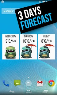 Grumpy Weather Widget Screenshot