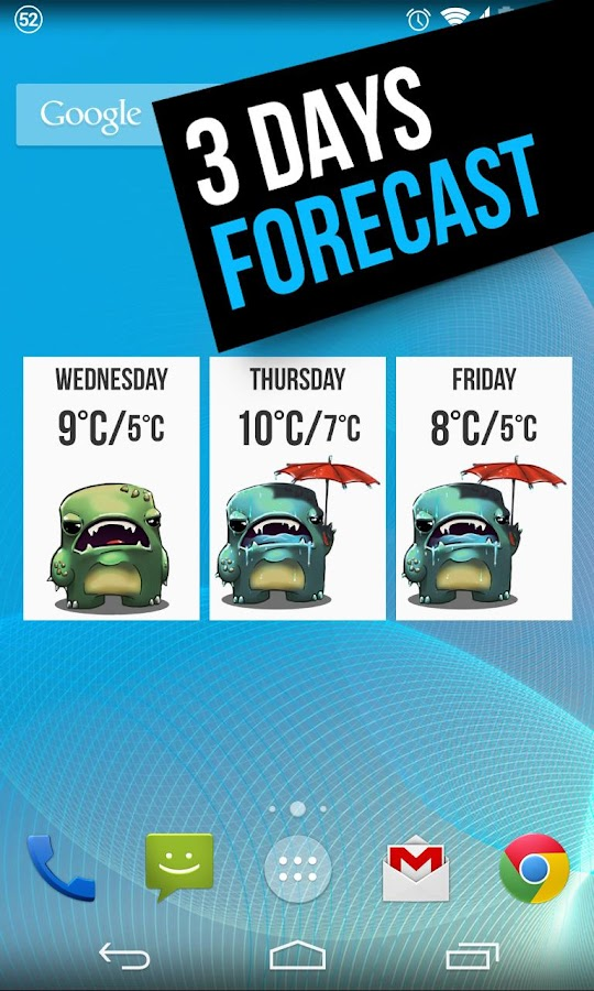 Grumpy Weather Widget - screenshot