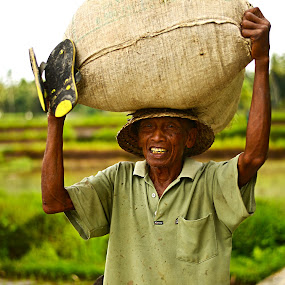Rice Paddy Worker by Ozge Kesim Yurtsever - People Street & Candids (  )