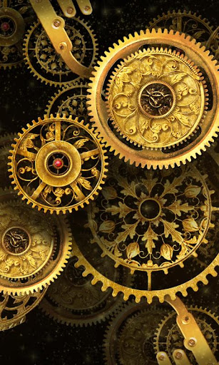 Gold Clock Live Wallpaper HD 2.01 Apk